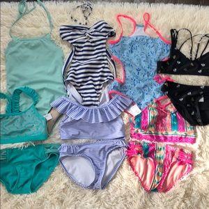 Little girls size 7-8 swimsuit bundle